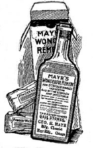 Packaging shown in Mayr's early adverts, 1912
