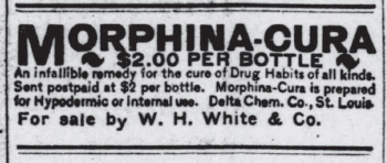 1906 ad for Morphina-Cura
