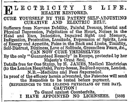 Henry James advert
