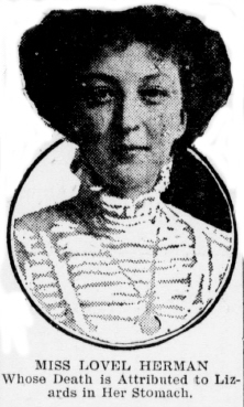 Miss Lovel Herman, as pictured in The Tacoma Times