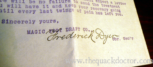 Frederick Dyer's signature