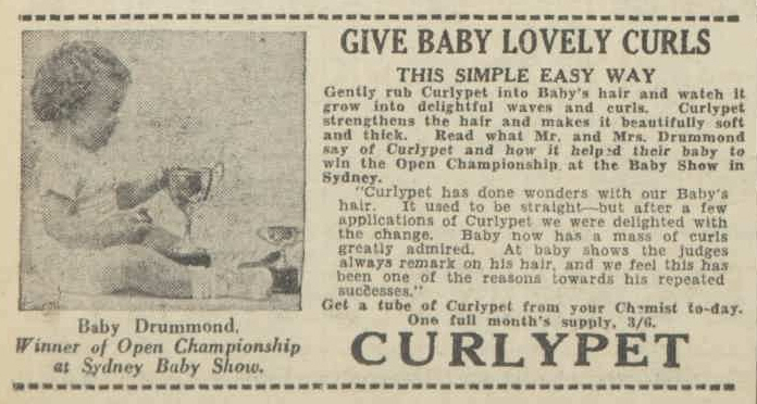 Curlypet,  Australian Women's Weekly 26 Feb 1938