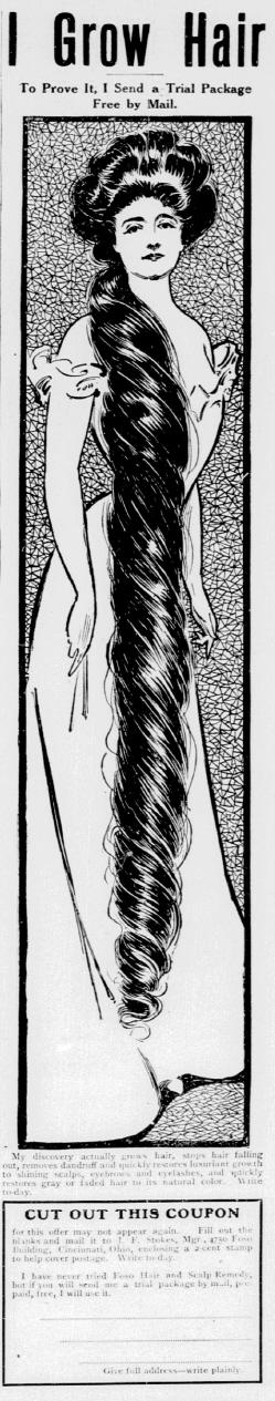 'I Grow Hair' New York Tribune 7 Jan 1906
