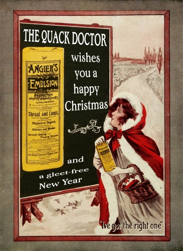 the quack doctor wishes you a happy christmas and a gleet free new year