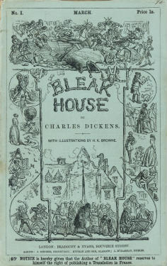 Cover of the first instalment of Bleak House, March 1852