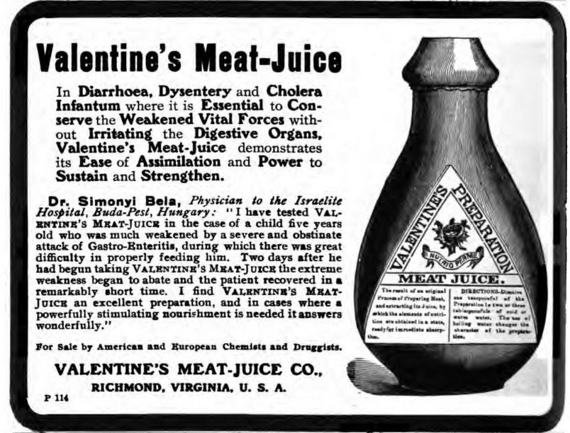 Valentine's Meat Juice, The Medical World May 1914