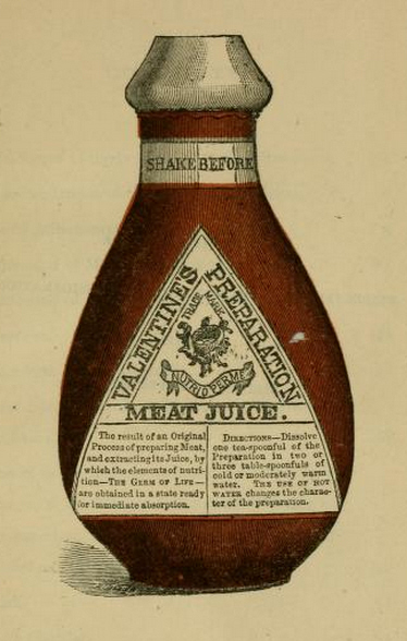 Valentine's Meat Juice bottle