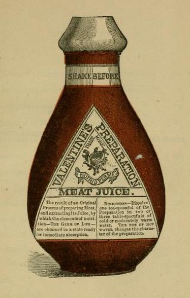 Valentine's Meat Juice bottle