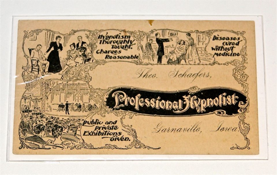 Hypnotism trade card