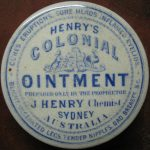 Henry's Colonial Ointment - cures eruptions, sore heads, inflamed eyelids etc.