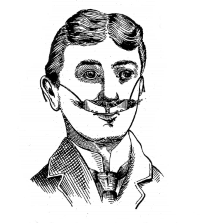 Edward C Gladwin's Mustache-Protector, 1901