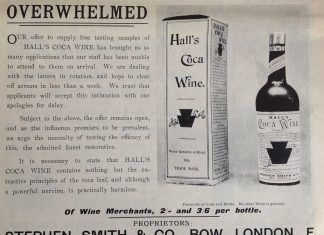 Hall's Coca Wine - 1897 ad from Country Life