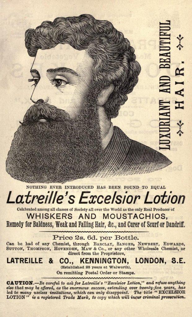 Latreille's Excelsior Lotion, 1888