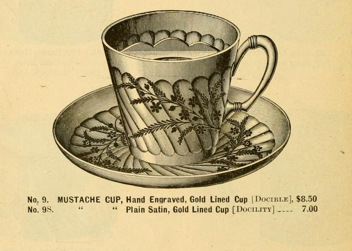Mustache Cup, 1889