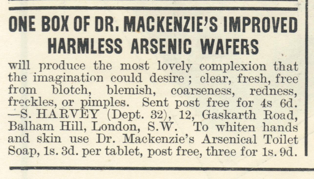 MacKenzie's Arsenic Wafers, 1890s