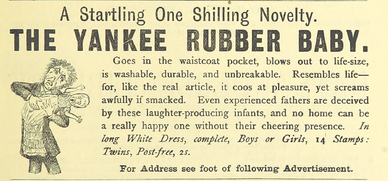 Yankee Rubber Baby from 'The White Cat' by Hal Ludlow 1882