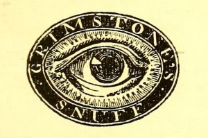 Grimstone's Eye Snuff Logo - Farmer's Magazine, Jan-June 1840
