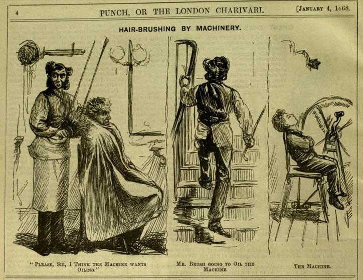 Hair Brushing by Machinery - Punch vol 54, p4