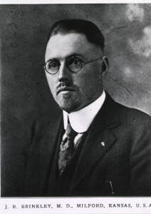 JR Brinkley, pictured in The Goat-Gland Transplantation by Sydney Blanshard Flower, c1921