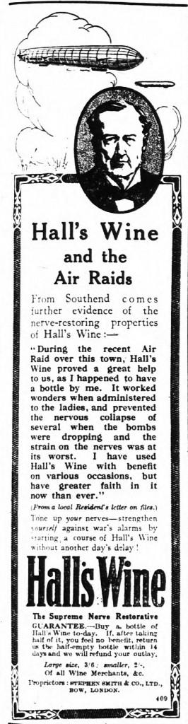 Hall's Wine - The Times, Tue Jun 22 1915