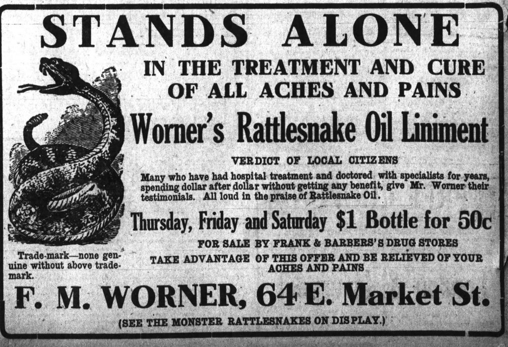Worner's rattlesnake oil - The_Wilkes_Barre_Record_Thu__Dec_21__1911_