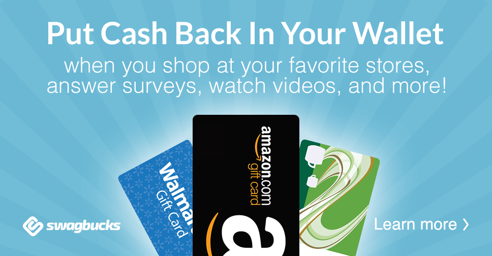 Join Swagbucks and earn points that you can redeem for Paypal cash