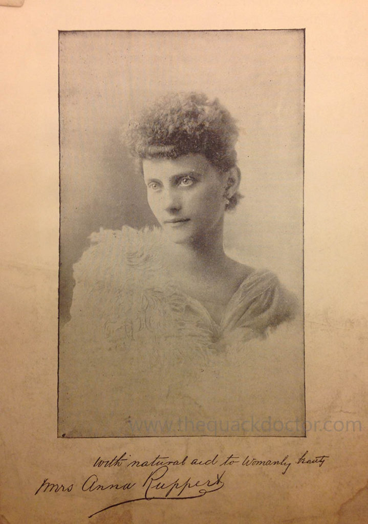 Madame Anna Ruppert. Portrait from her own 'Book of Beauty', 1894
